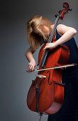 Musician playing cello