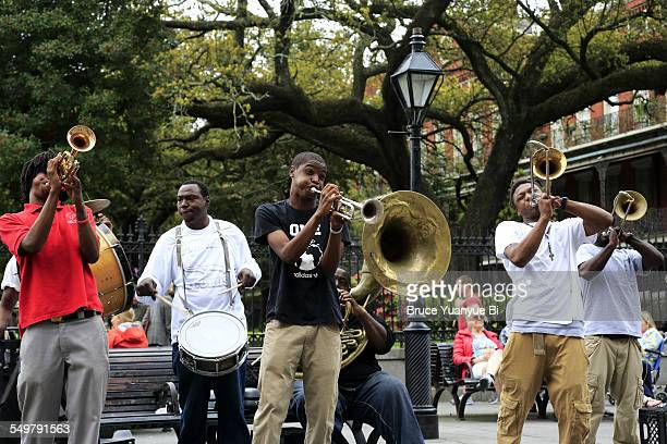 Musician playing Jazz on street