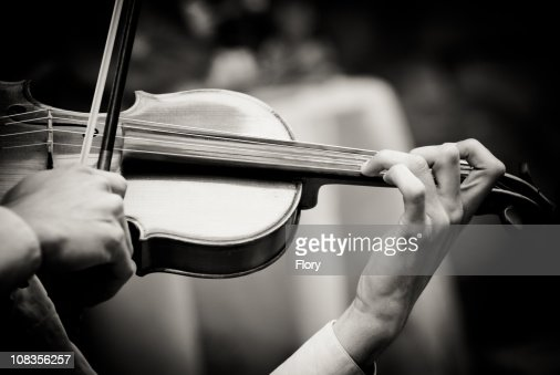 Musician playing violin : Stock Photo