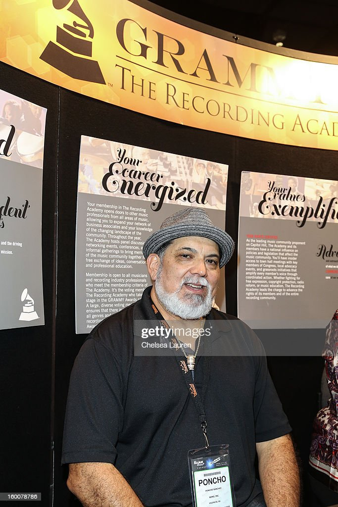 Musician Poncho Sanchez attends the 2013 NAMM show at Anaheim Convention Center on January 25, 2013 in Anaheim, California.
