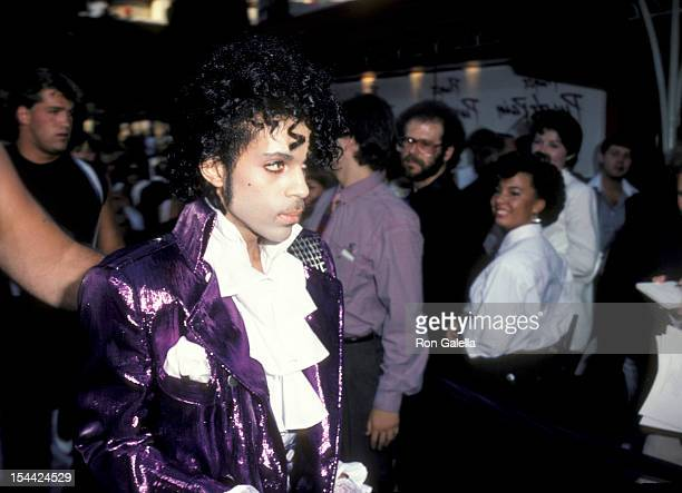 Musician Prince attending the premiere of 'Purple Rain' on July 26 1984 at Mann Chinese Theater in Hollywood California