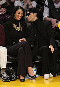 Musician Prince attends the Los Angeles Lakers vs Boston Celtics game at the Staples Center on December 25 2008 in Los Angeles California