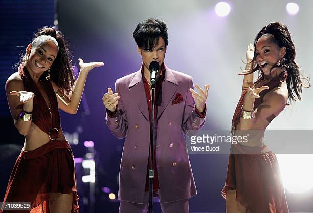 Musician Prince performs during the American Idol Season 5 Finale on May 24 2006 at the Kodak Theatre in Hollywood California