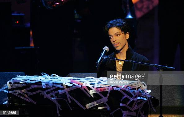 Musician Prince performs on stage at the 36th NAACP Image Awards at the Dorothy Chandler Pavilion on March 19 2005 in Los Angeles California