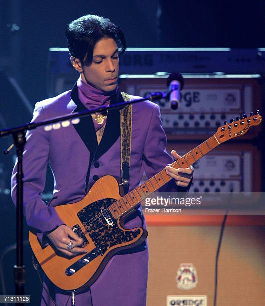 Musician Prince performs onstage at the 2006 BET Awards at the Shrine Auditorium on June 27 2006 in Los Angeles California