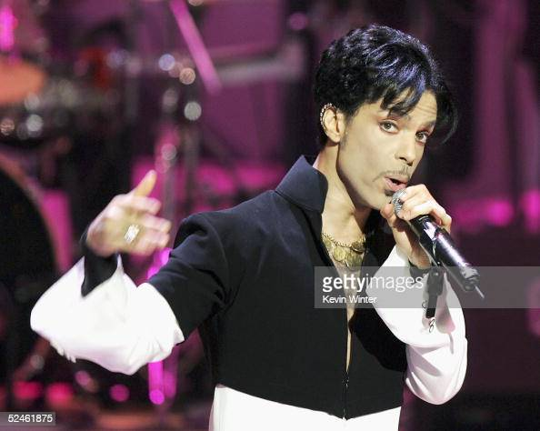 Musician Prince performs onstage at the 36th Annual NAACP Image Awards at the Dorothy Chandler Pavilion on March 19 2005 in Los Angeles California