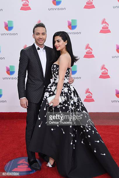 Musician Prince Royce and Emeraude Toubia attend The 17th Annual Latin Grammy Awards at TMobile Arena on November 17 2016 in Las Vegas Nevada