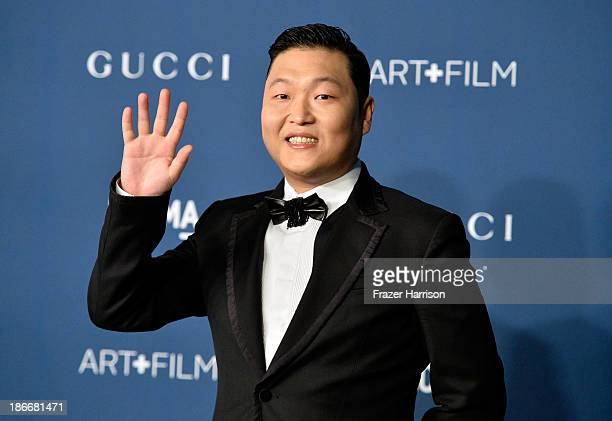 Musician Psy Park Jaesang arrives at the LACMA 2013 Art Film Gala on November 2 2013 in Los Angeles California