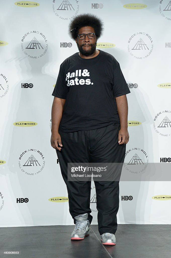 Musician <a gi-track='captionPersonalityLinkClicked' href=/galleries/search?phrase=Questlove&family=editorial&specificpeople=537550 ng-click='$event.stopPropagation()'>Questlove</a> attends the 29th Annual Rock And Roll Hall Of Fame Induction Ceremony at Barclays Center of Brooklyn on April 10, 2014 in New York City.