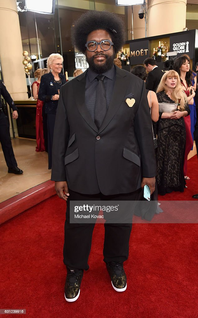 Musician Questlove attends the 74th Annual Golden Globe Awards at The Beverly Hilton Hotel on January 8, 2017 in Beverly Hills, California.