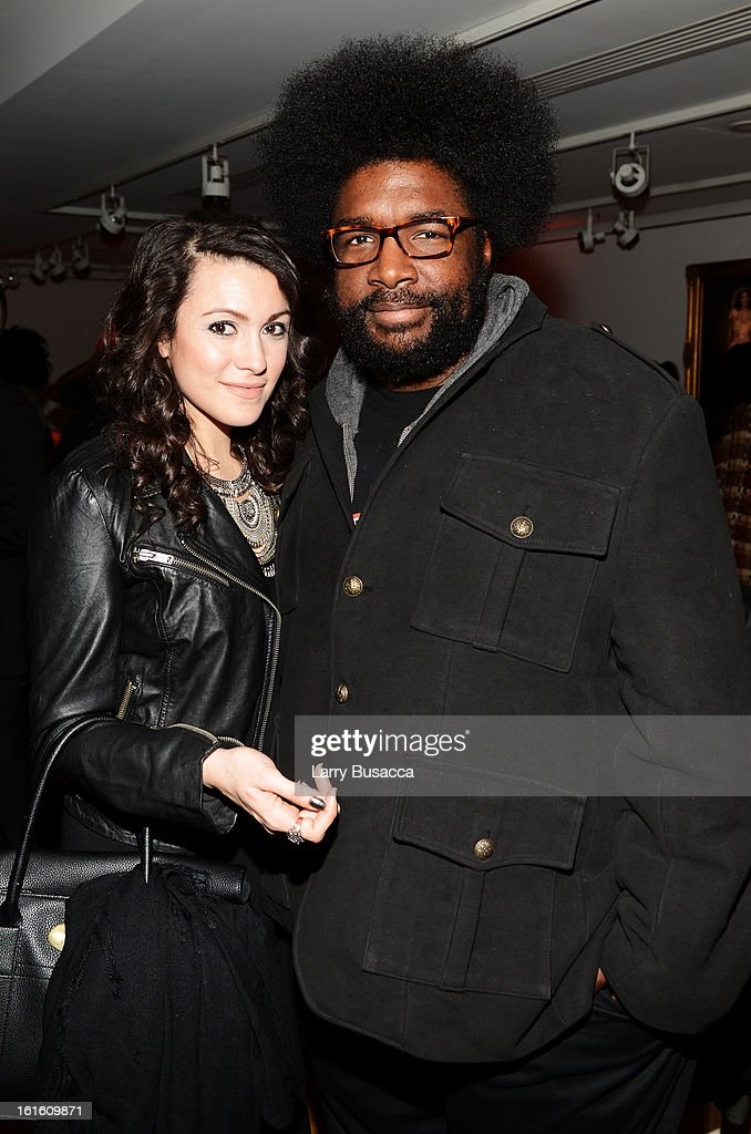 Musician <a gi-track='captionPersonalityLinkClicked' href=/galleries/search?phrase=Questlove&family=editorial&specificpeople=537550 ng-click='$event.stopPropagation()'>Questlove</a> (R) attends the after party following the premiere of the HBO Documentary Film 'Beyonce: Life Is But A Dream' at Christie's on February 12, 2013 in New York City.