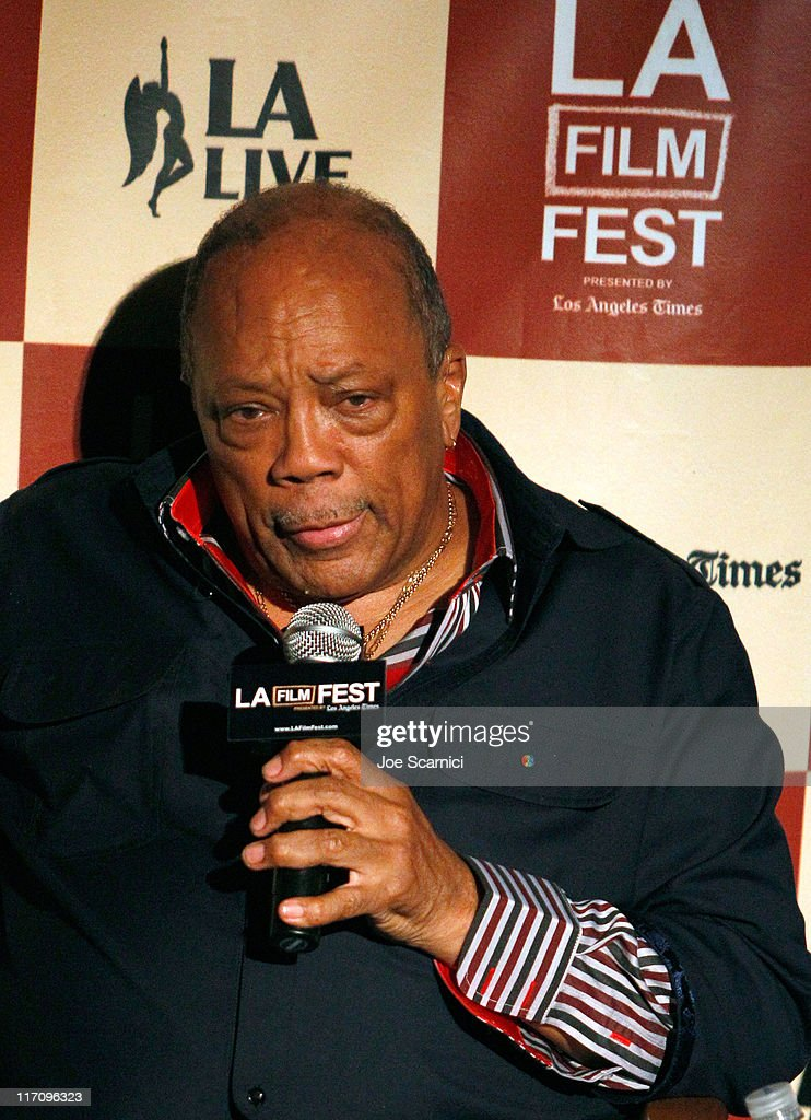 Musician <a gi-track='captionPersonalityLinkClicked' href=/galleries/search?phrase=Quincy+Jones&family=editorial&specificpeople=171797 ng-click='$event.stopPropagation()'>Quincy Jones</a> attend A Conversation: Remembering Sidney Lumet during the 2011 Los Angeles Film Festival held at Regal Cinemas L.A. LIVE on June 21, 2011 in Los Angeles, California.