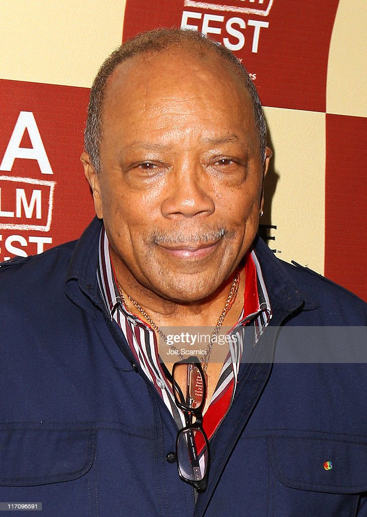 Musician <a gi-track='captionPersonalityLinkClicked' href=/galleries/search?phrase=Quincy+Jones&family=editorial&specificpeople=171797 ng-click='$event.stopPropagation()'>Quincy Jones</a> attends A Conversation: Remembering Sidney Lumet during the 2011 Los Angeles Film Festival held at Regal Cinemas L.A. LIVE on June 21, 2011 in Los Angeles, California.