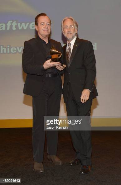 Musician Ralf Hutter and The Recording Academy president/CEO Neil Portnow attend the Special Merit Awards Ceremony as part of the 56th GRAMMY Awards...