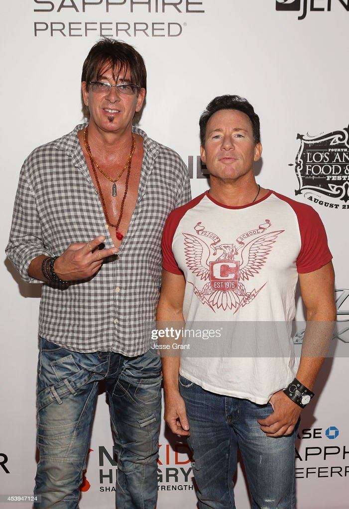 Musician Ralph Rieckermann and music producer Jeff Blue attend Ultimate Bites of L.A. Presented by Chase Sapphire Preferred, Hosted by Chef Graham Elliot & Fabio Viviani on August 21, 2014 in Los Angeles, California.