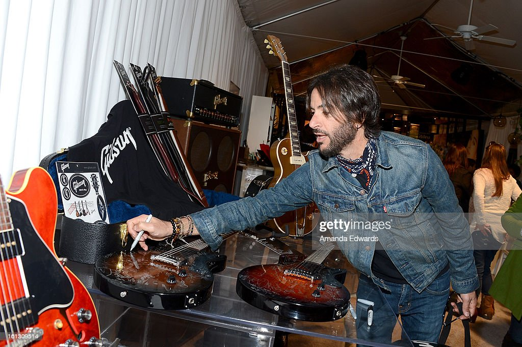 Musician <a gi-track='captionPersonalityLinkClicked' href=/galleries/search?phrase=Rami+Jaffee&family=editorial&specificpeople=234780 ng-click='$event.stopPropagation()'>Rami Jaffee</a> attends the GRAMMY Gift Lounge during the 55th Annual GRAMMY Awards at STAPLES Center on February 9, 2013 in Los Angeles, California.