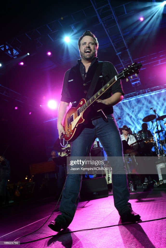 Musician <a gi-track='captionPersonalityLinkClicked' href=/galleries/search?phrase=Randy+Houser&family=editorial&specificpeople=5348597 ng-click='$event.stopPropagation()'>Randy Houser</a> performs onstage at the All Star Jam during the 48th Annual Academy Of Country Music Awards at the MGM Grand Hotel/Casino on April 7, 2013 in Las Vegas, Nevada.