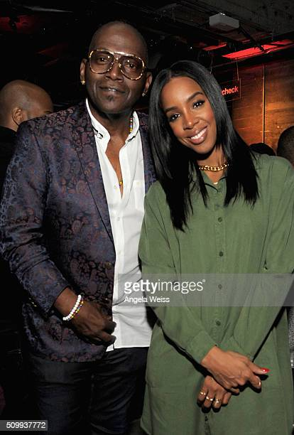 Musician Randy Jackson and singer Kelly Rowland attend Delta Air Lines Toasts GRAMMY Weekend with 'Sites and Sounds' A Private Performance and...