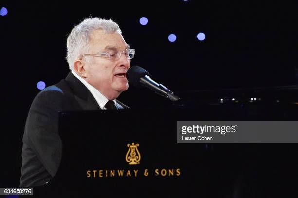 Musician Randy Newman performs onstage during MusiCares Person of the Year honoring Tom Petty at the Los Angeles Convention Center on February 10...