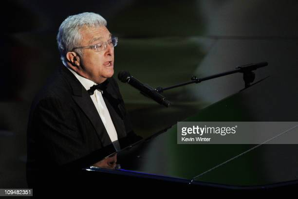 Musician Randy Newman performs the Best Achievement in Music Written for Motion Pictures Original Song nominee 'We Belong Together' from the motion...