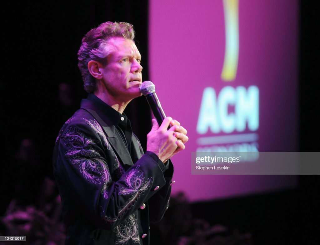Musician <a gi-track='captionPersonalityLinkClicked' href=/galleries/search?phrase=Randy+Travis&family=editorial&specificpeople=208114 ng-click='$event.stopPropagation()'>Randy Travis</a> speaks during the 4th Annual ACM Honors at the Ryman Auditorium on September 20, 2010 in Nashville, Tennessee.