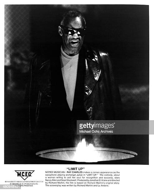 Musician Ray Charles in a scene from the movie 'Limit Up' circa 1996