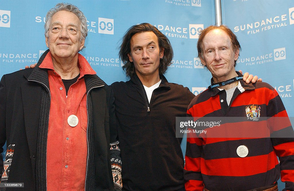 Musician Ray Manzarek of The Doors, director Tom Dicillo and musician Robby Krieger of The Doors attend the premiere of 'When You're Strange' during the 2009 Sundance Film Festival at Temple Theatre on January 17, 2009 in Park City, Utah.