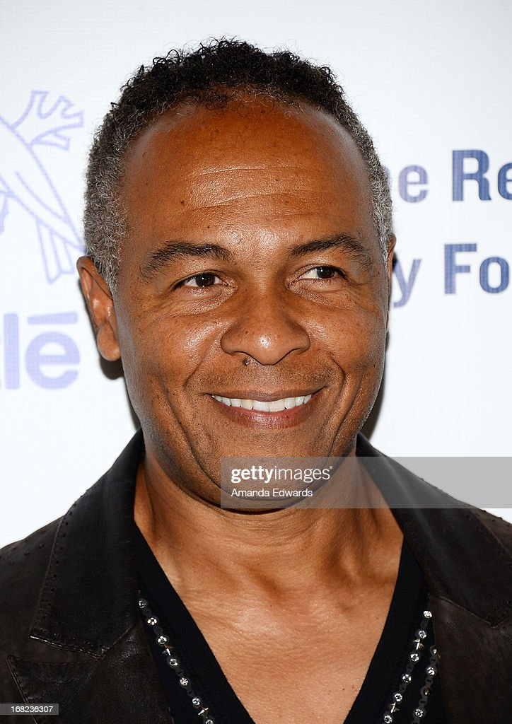 Musician <a gi-track='captionPersonalityLinkClicked' href=/galleries/search?phrase=Ray+Parker+Jr.&family=editorial&specificpeople=2236302 ng-click='$event.stopPropagation()'>Ray Parker Jr.</a> arrives at the Midnight Mission's 'Golden Heart Awards' honoring Tim Allen and Jason Sinay at the Beverly Wilshire Four Seasons Hotel on May 6, 2013 in Beverly Hills, California.
