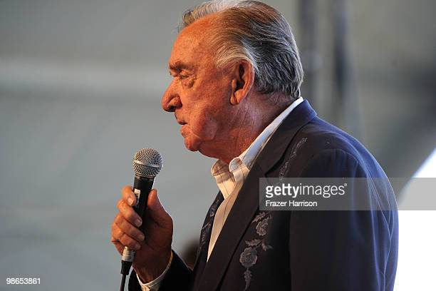 Musician Ray Price performs during day 1 of Stagecoach California's Country Music Festival 2010 held at The Empire Polo Club on April 24 2010 in...