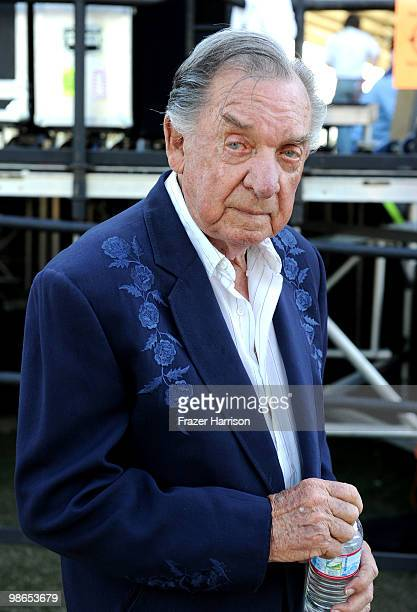 Musician Ray Price poses backstage during day 1 of Stagecoach California's Country Music Festival 2010 held at The Empire Polo Club on April 24 2010...