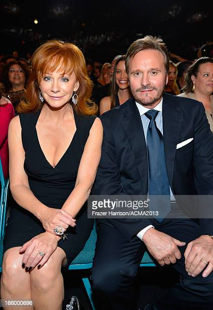 Musician Reba McEntire and manager Narvel Blackstock attend the 48th Annual Academy of Country Music Awards at the MGM Grand Garden Arena on April 7...