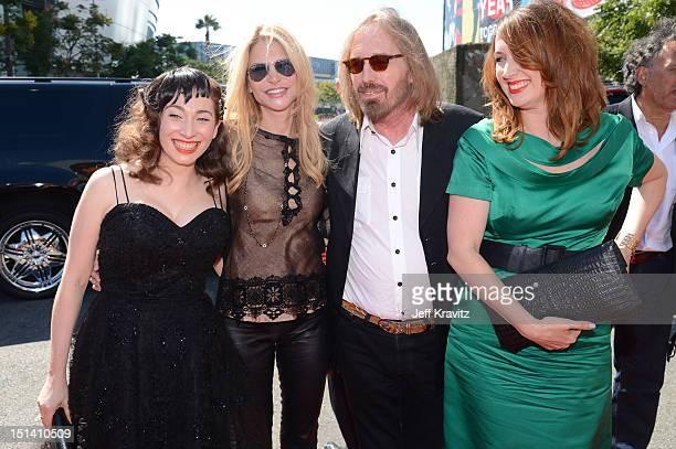 Musician Regina Spektor Dana York musician Tom Petty and Adria Petty arrive at the 2012 MTV Video Music Awards at Staples Center on September 6 2012...