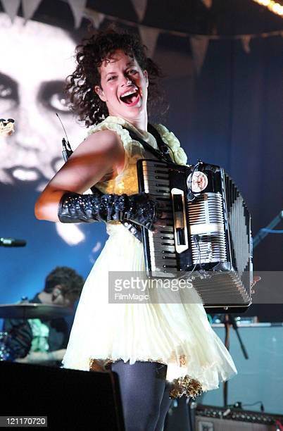 Musician Regine Chassagne of the Arcade Fire performs at the Lands End Stage during the 2011 Outside Lands Music and Arts Festival held at Golden...