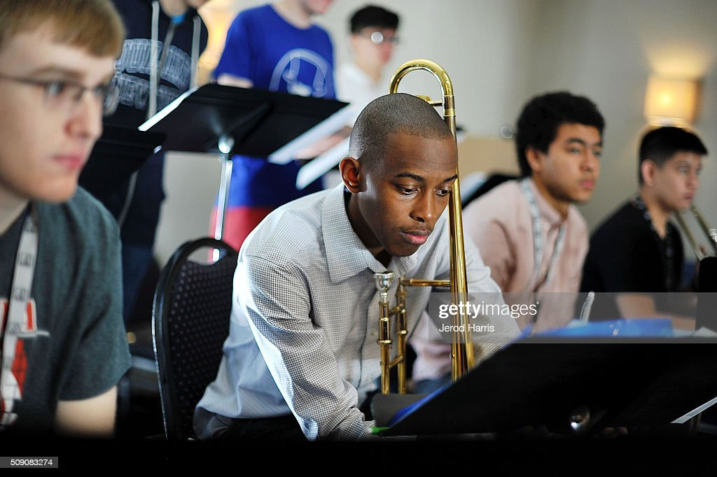 Musician Remee Ashley performs with The 58th GRAMMY Awards - GRAMMY Camp - Jazz Session Rehearsals on February 8, 2016 in Marina del Rey, California.