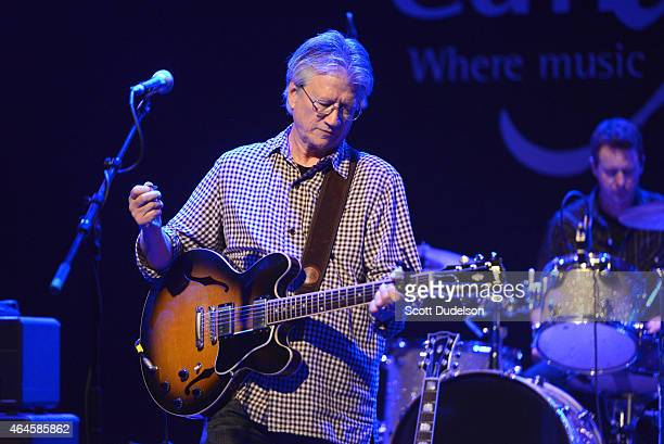 Musician Richie Furay of Poco and The Buffalo Springfield and drummer Alan Lemke performs on stage at The Canyon Club on February 26 2015 in Agoura...