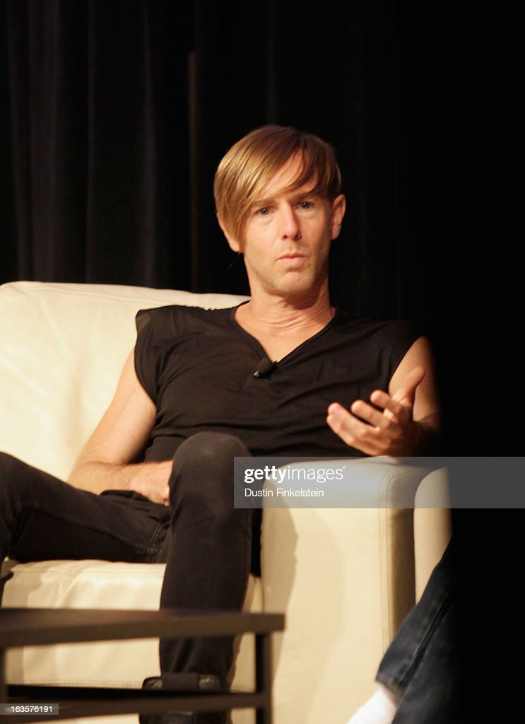Musician Richie Hawtin speaks onstage at Deadmau5 & Richie Hawtin: Talk. Techno. Technology. during the 2013 SXSW Music, Film + Interactive Festival at Austin Convention Center on March 12, 2013 in Austin, Texas.