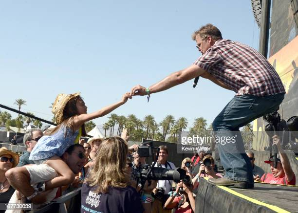 Musician Richie McDonald of Lonestar performs onstage during 2013 Stagecoach California's Country Music Festival held at The Empire Polo Club on...