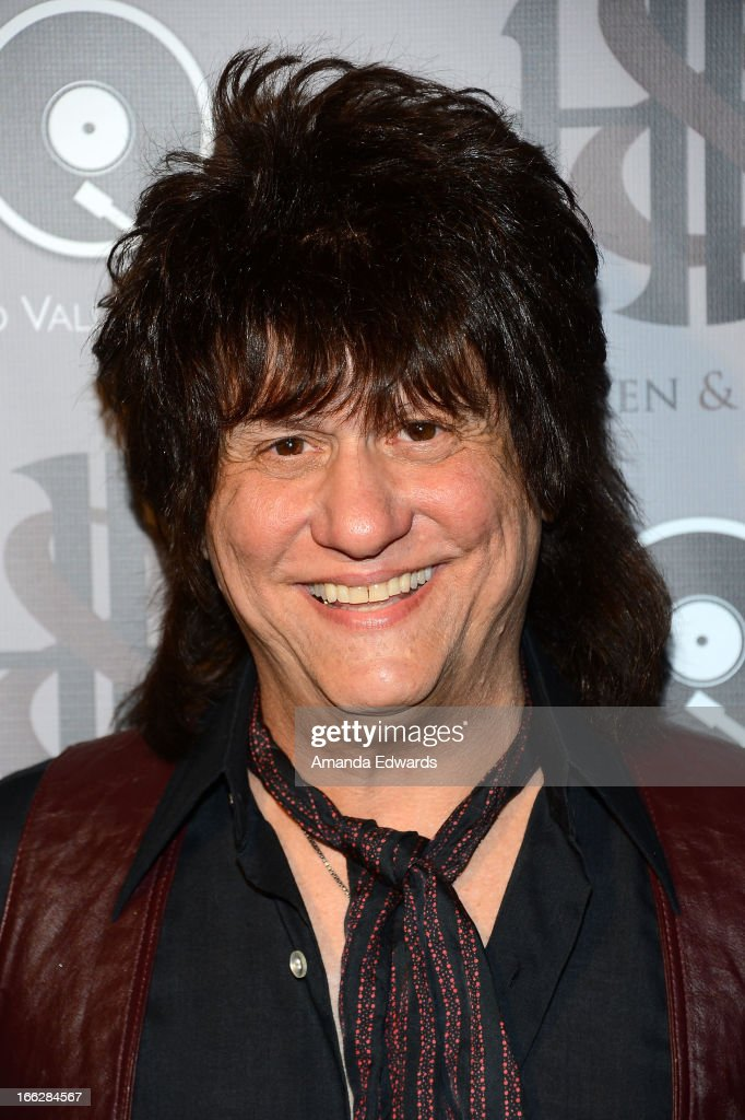 Musician Richie Onori of the band Heaven and Earth arrives at the Heaven and Earth 'Dig' world premiere album release party at The Fonda Theatre on April 10, 2013 in Los Angeles, California.
