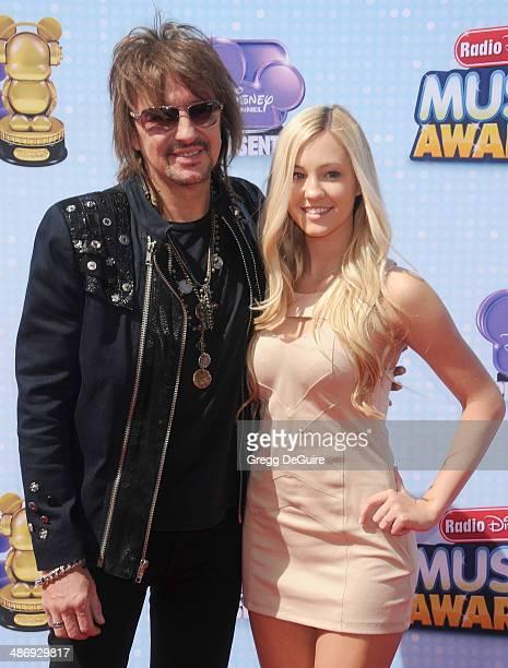 Musician Richie Sambora and daughter Ava Sambora arrive at the 2014 Radio Disney Music Awards at Nokia Theatre LA Live on April 26 2014 in Los...