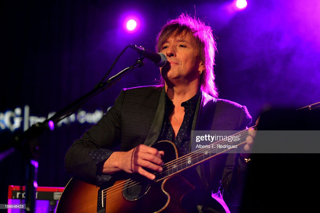 Musician <a gi-track='captionPersonalityLinkClicked' href=/galleries/search?phrase=Richie+Sambora&family=editorial&specificpeople=204195 ng-click='$event.stopPropagation()'>Richie Sambora</a> joined President Bill Clinton and Kobe Bryant at the grand opening of STEP UP ON VINE on January 14, 2013 in Los Angeles, California.