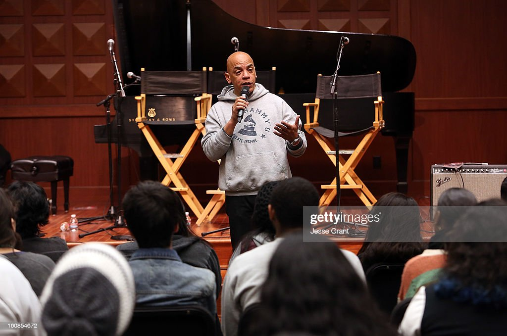 Musician Rickey Minor attends GRAMMY Camp Basic Training at USC Thornton School of Music on February 6, 2013 in Los Angeles, California.