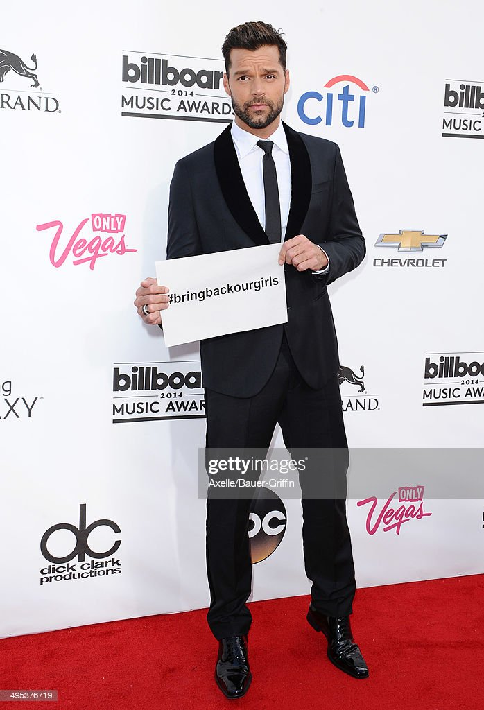 Musician Ricky Martin arrives at the 2014 Billboard Music Awards at the MGM Grand Garden Arena on May 18, 2014 in Las Vegas, Nevada.