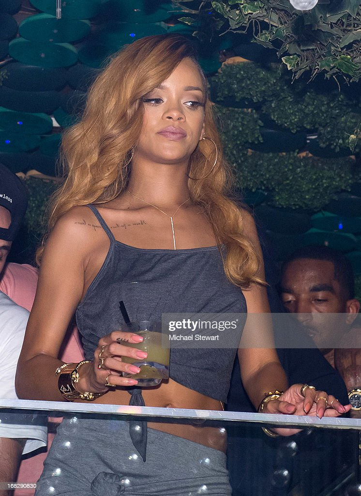 Musician <a gi-track='captionPersonalityLinkClicked' href=/galleries/search?phrase=Rihanna&family=editorial&specificpeople=453439 ng-click='$event.stopPropagation()'>Rihanna</a> attends her after party for the Diamonds World Tour at Greenhouse on May 7, 2013 in New York City.