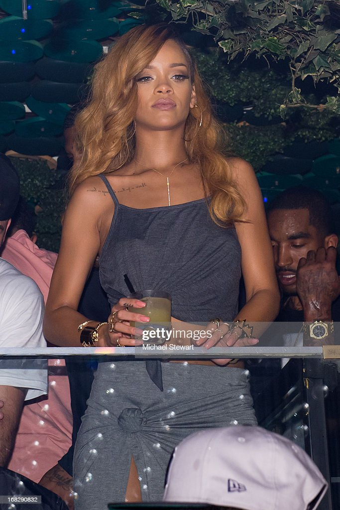 Musician <a gi-track='captionPersonalityLinkClicked' href=/galleries/search?phrase=Rihanna&family=editorial&specificpeople=453439 ng-click='$event.stopPropagation()'>Rihanna</a> attends <a gi-track='captionPersonalityLinkClicked' href=/galleries/search?phrase=Rihanna&family=editorial&specificpeople=453439 ng-click='$event.stopPropagation()'>Rihanna</a>'s Diamonds World Tour after party at Greenhouse on May 7, 2013 in New York City.