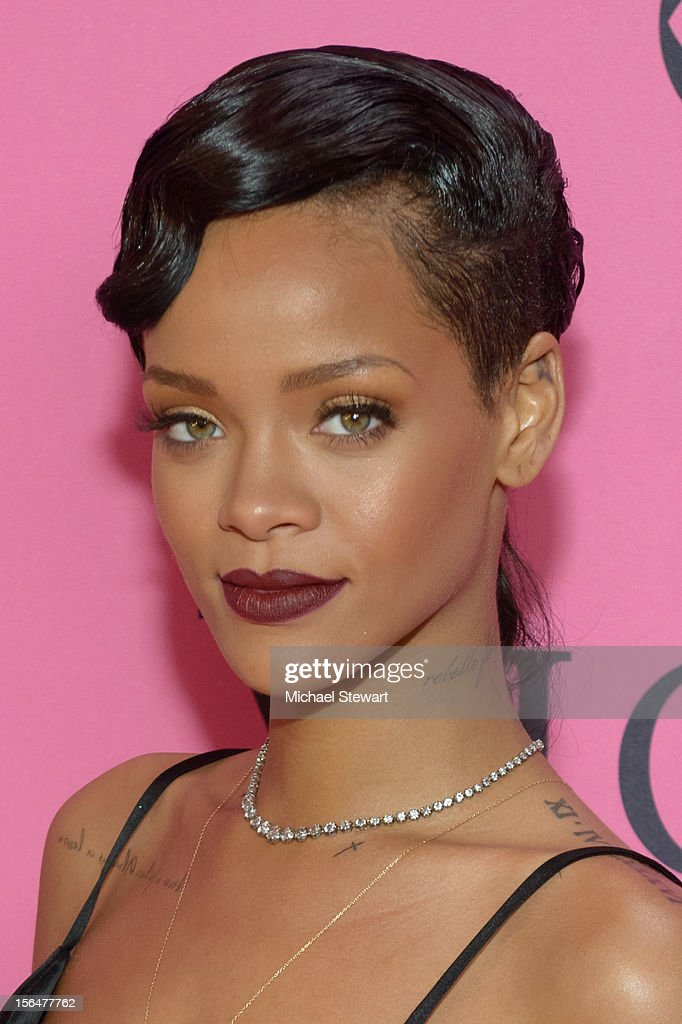 Musician <a gi-track='captionPersonalityLinkClicked' href=/galleries/search?phrase=Rihanna&family=editorial&specificpeople=453439 ng-click='$event.stopPropagation()'>Rihanna</a> attends the 2012 Victoria's Secret Fashion Show at the Lexington Avenue Armory on November 7, 2012 in New York City.