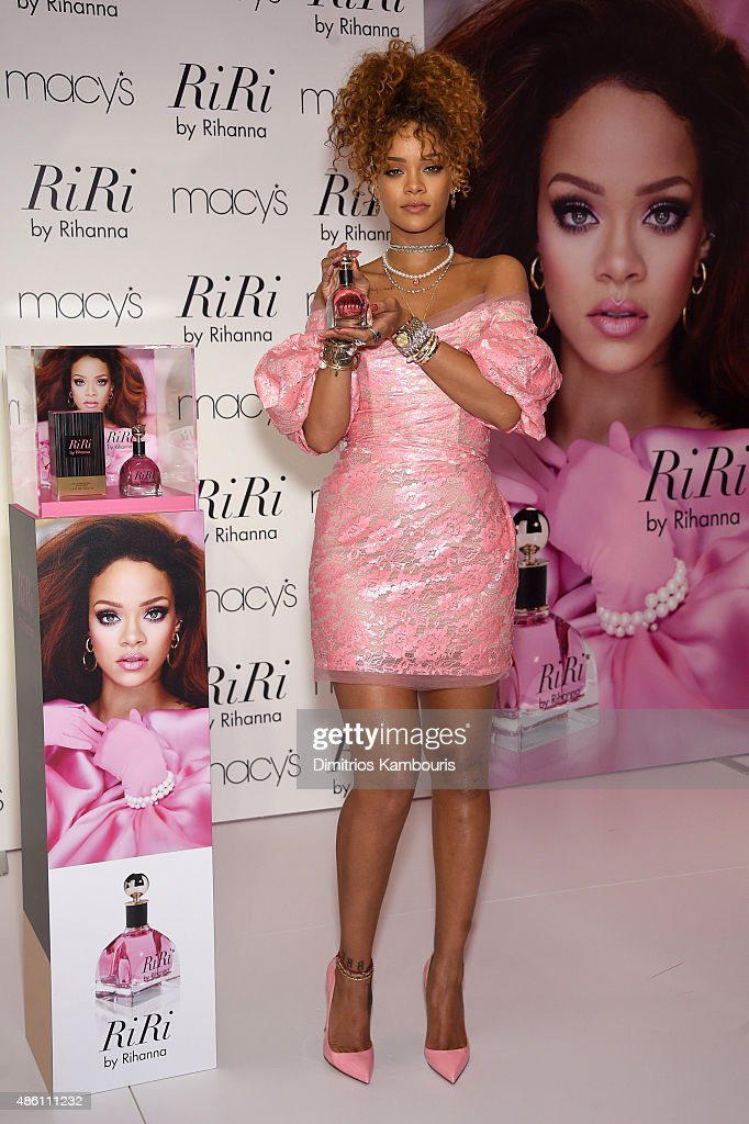 Musician Rihanna attends the RiRi by Rihanna fragrance unveiling at Macy's Downtown Brooklyn on August 31, 2015 in New York City.