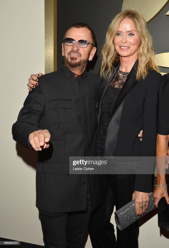 Musician Ringo Starr (L) and actress Barbara Bach attend the 56th GRAMMY Awards at Staples Center on January 26, 2014 in Los Angeles, California.