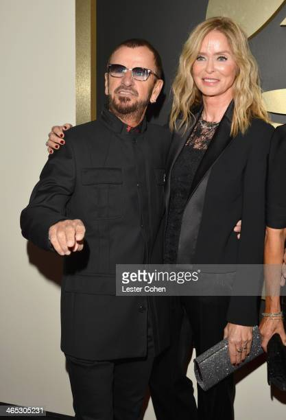 Musician Ringo Starr and actress Barbara Bach attend the 56th GRAMMY Awards at Staples Center on January 26 2014 in Los Angeles California