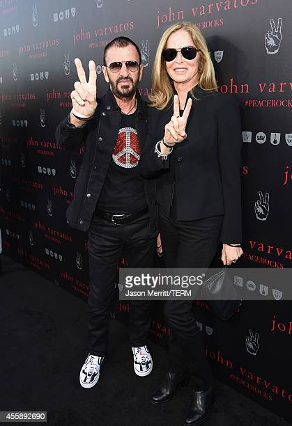 Musician Ringo Starr and Barbara Bach attend John Varvatos' International Day of Peace Celebration with a special performance by Ringo Starr His All...
