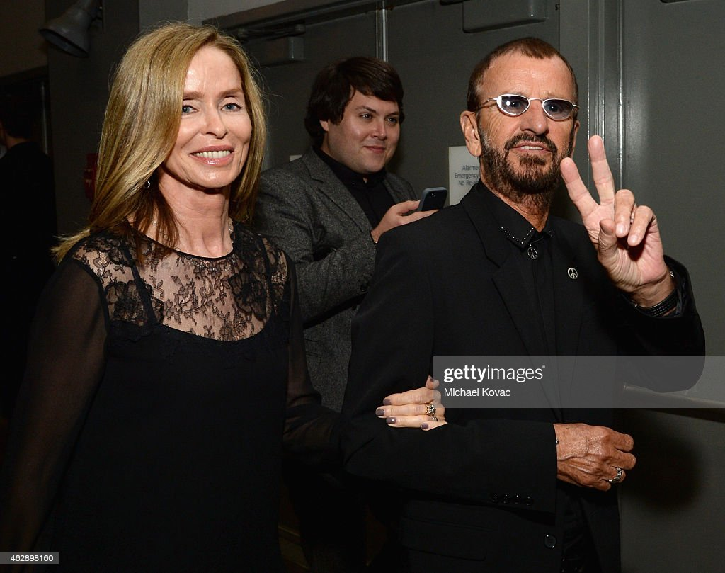 Musician Ringo Starr (R) and Barbara Bach attend the 25th anniversary MusiCares 2015 Person Of The Year Gala honoring Bob Dylan at the Los Angeles Convention Center on February 6, 2015 in Los Angeles, California. The annual benefit raises critical funds for MusiCares' Emergency Financial Assistance and Addiction Recovery programs. For more information visit musicares.org.